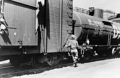Iowa Freight Train, 1940 Art Print