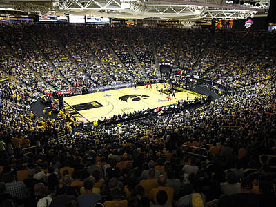 Carver Photograph - Iowa Hawkeyes Carver-hawkeye Arena by Replay Photos
