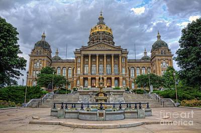 Photograph - Iowa State Capitol by Eddie Yerkish