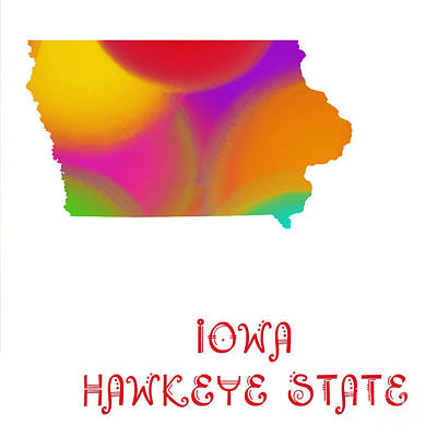 Digital Art - Iowa State Map Collection 2 by Andee Design