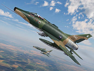 Iowa's Bicentennial Warriors F-100 Super Sabres Art Print by Stu Shepherd