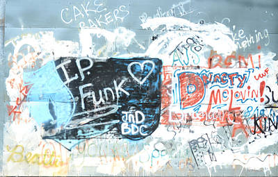 Photograph - Ip Funk Heard Jnd Bdc Graffiti Art 2 by RD Erickson