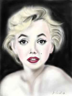 iPad Portrait Marilyn Art Print by Yoshiyuki Uchida