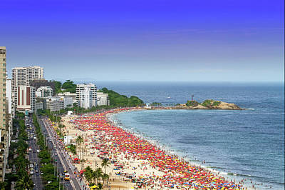 Photograph - Ipanema Beach In Rio De Janeiro by Luoman