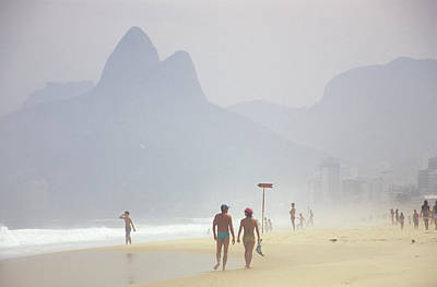 Ipanema Beach Photograph - Ipanema Beach Scene, Rio De Janiero by Kevin Berne
