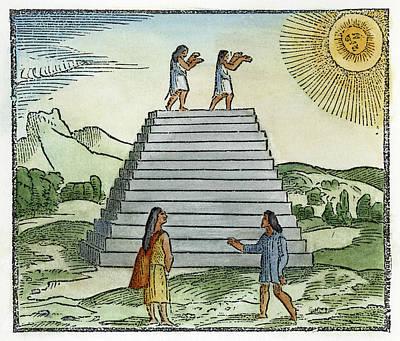 Worship God Painting - Iperu Sun Worship by Granger