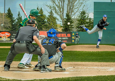 Photograph - Ipfw Vs Ndsu Baseball by Gene Sherrill
