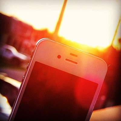 Iphone 4s Photograph - #iphone #4s #sunset by Brian Smith