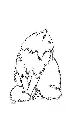 Drawing - iPhone-Case-Cat2 by Gordon Punt