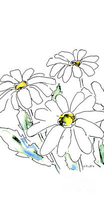 Drawing - iPhone-Case-Flower-Daisy2 by Gordon Punt