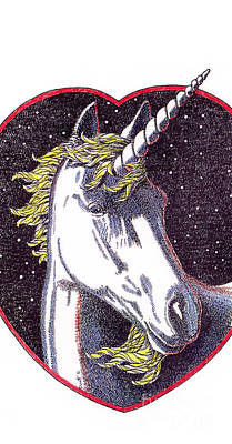 Drawing - iPhone-Case-Unicorn-2 by Gordon Punt