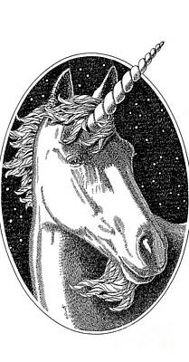 Drawing - iPhone-Cover-Unicorn-1 by Gordon Punt