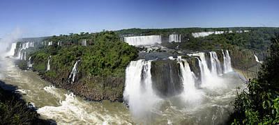 Iquazu Falls - South America      Panorama Art Print by Jon Berghoff