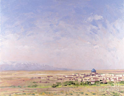 Desert View Painting - Iran by Bob Brown