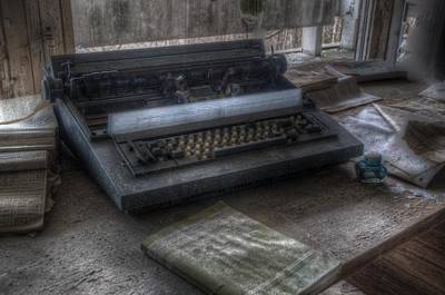 Iraq Typewriter  Art Print