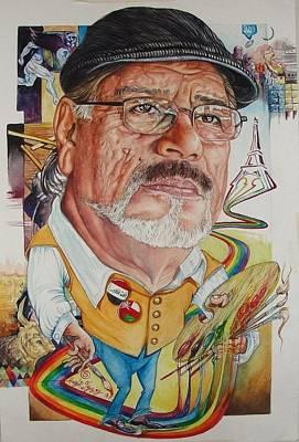Kalash Painting - Iraqi Artist Sabih Kalash by Haydar Al-yasiry