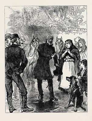 Orator Drawing - Ireland An Itinerant Orator Near Killarney 1880 by Irish School