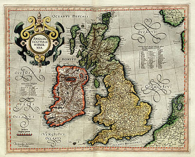 Ireland And Britain Art Print by Library Of Congress, Geography And Map Division