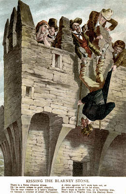 Blarney Castle Painting - Ireland The Blarney Stone by Granger