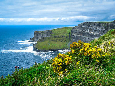 Photograph - Ireland's Cliffs Of Moher by James Truett