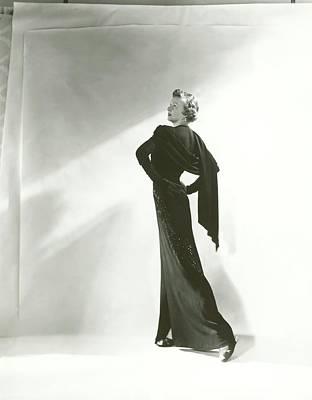 Photograph - Irene Castle Wearing A Samuel Dress by Horst P. Horst