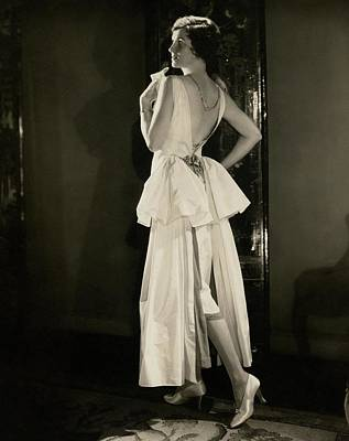 1920s Fashion Photograph - Irene Castle Wearing A Satin Dress by Edward Steichen