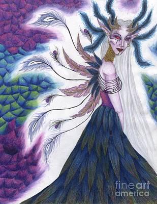 Iridescent Drawing - Iridescence by Coriander  Shea