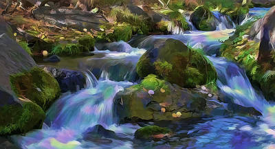 Painting - Iridescent Creek By Frank Lee Hawkins by Frank Lee Hawkins