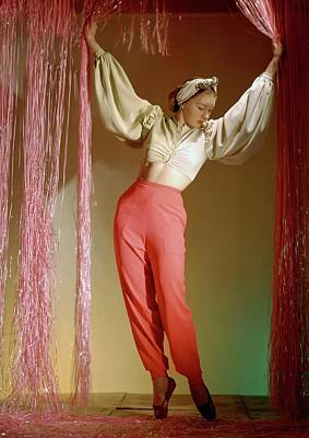 Irina Baronova Under Curtains Art Print by Horst P. Horst
