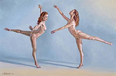Figure Painting - Irina Dancing by Paul Krapf