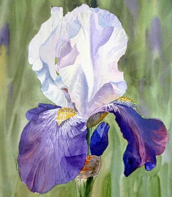 Purple Irises Painting - Iris     by Irina Sztukowski