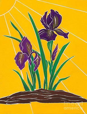Mixed Media - Iris 2 - In The Sun by Martha Rucker