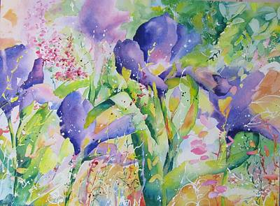 Painting - Iris And Friends by John Nussbaum