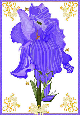 Colorful People Abstract Royalty Free Images - Iris and Old Lace Royalty-Free Image by Anne Norskog