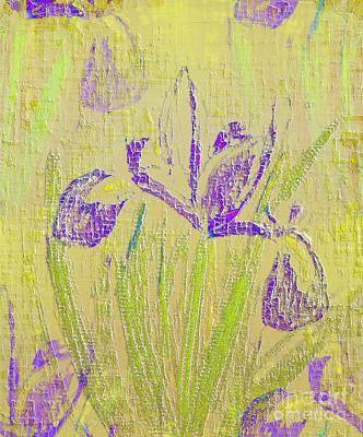 Digital Art - Iris by Barbara Moignard