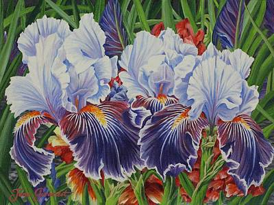 Painting - Iris Blooms by Jane Girardot