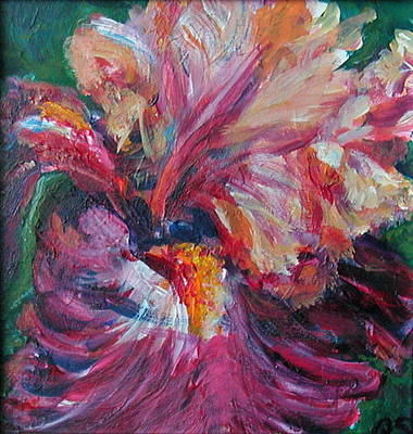 Painting - Iris - Bold Impressionist Painting by Quin Sweetman