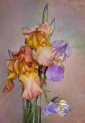 Photograph - Iris Bouquet by David and Carol Kelly