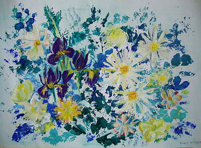 Painting - Iris Bouquet by Veronica Rickard