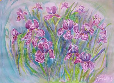 Painting - Iris  by Cathy Long