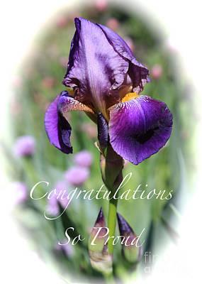 Photograph - Iris Congratulations Card by Carol Groenen