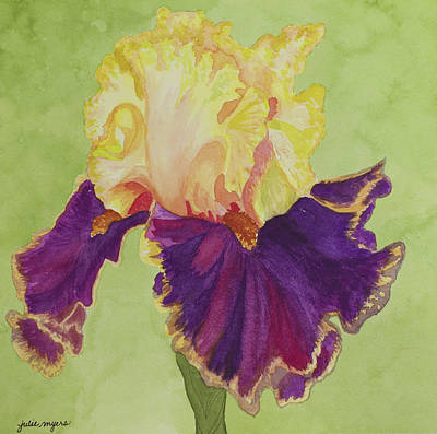 Hearty Painting - Iris 'decadence' by Julie Myers