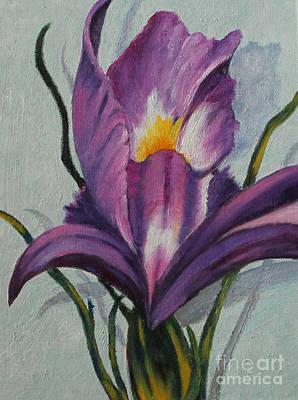 Painting - Iris by Dian Paura-Chellis