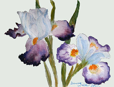 Plein Air Painting - Iris by Donna Walsh