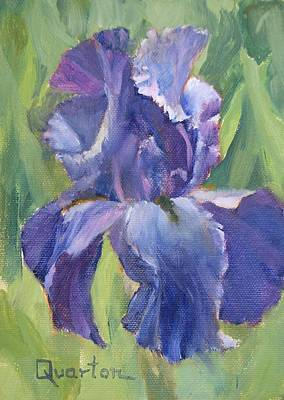 Painting - Iris Dream by Lori Quarton