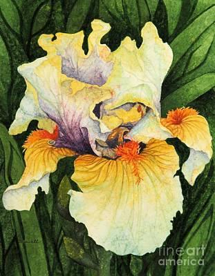Art Print featuring the painting Iris Elegance by Barbara Jewell