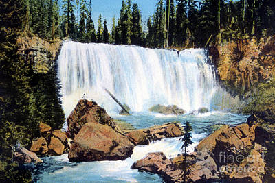 Photograph - Iris Falls Yellowstone National Park  by NPS Photo Frank J Haynes