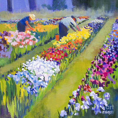 Iris Farm Art Print by Bernard Marks