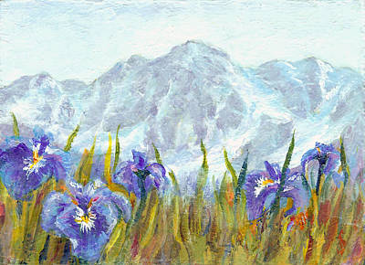 Painting - Iris Field In Alaska by Karen Mattson