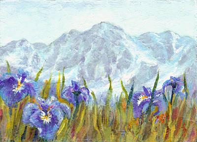 Wall Art - Painting - Iris Field In Alaska by Karen Mattson